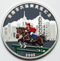 """Hong Kong, Hong Kong: Special Administrative Regiongold-plated & silver """"Equestrian - 2008 Olympics"""" Colorized 2-Piece Medallic Proof Set 2005 Gem ... (Total: 2 coins)"""
