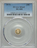 California Fractional Gold : , 1870 25C Liberty Round 25 Cents, BG-808, R.3, MS65 PCGS. PCGSPopulation: (49/20). NGC Census: (16/11). ...