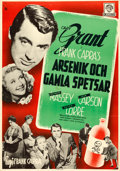 "Movie Posters:Comedy, Arsenic and Old Lace (Warner Brothers, 1944). Swedish One Sheet(27.5"" X 39""). Gosta Aberg Artwork.. ..."