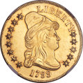 Early Eagles, 1799 $10 Small Obverse Stars, BD-7, R.3, MS63 NGC....