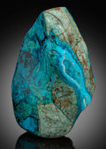 Lapidary Art:Carvings, Druzy Chrysocolla Sculpture. Bagdad Copper Mine. Yavapai County. Arizona. ...