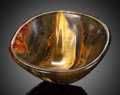Lapidary Art:Carvings, Tiger's Eye Bowl. Mt. Brockman Station. Pilbara. WesternAustralia. ...