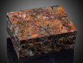 Lapidary Art:Boxes, Pietersite and Gedrite Box. Stone Source: Outjo, Outjo District, Kunene Region, Namibia and Belomorsky Region, Central Kar...