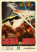 "Movie Posters:Science Fiction, The War of the Worlds (Paramount, R-1960s). Italian 2 - Fogli (39""X 55"").. ..."