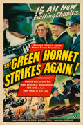 "Movie Posters:Serial, The Green Hornet Strikes Again (Universal, 1941). One Sheet (27"" X41"") Advance.. ..."