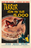 "Movie Posters:Science Fiction, Terror from the Year 5000 (American International, 1958). One Sheet(27"" X 41"") Albert Kallis Artwork.. ..."