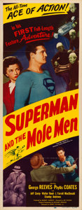 "Movie Posters:Serial, Superman and the Mole Men (Lippert, 1951). Insert (14"" X 36"").. ..."