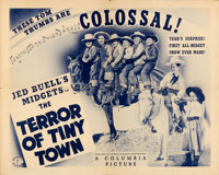 "The Terror of Tiny Town (Columbia, 1937). Half Sheet (22"" X 28"")"
