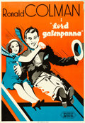 "Movie Posters:Comedy, The Devil to Pay (United Artists, 1931). Swedish One Sheet (27"" X 39"").. ..."