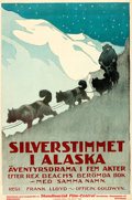 "Movie Posters:Adventure, The Silver Horde (Goldwyn, 1920). Swedish One Sheet (22.5"" X33.5"").. ..."