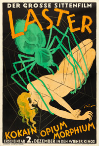 """Lusts of Mankind (International Film, 1927). Austrian (73"""" X 50"""") From the Albertina Collection, Mihaly Biro A..."""
