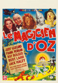 "Movie Posters:Fantasy, The Wizard of Oz (MGM, 1946). First Post-War Release Belgian (14"" X22"").. ..."