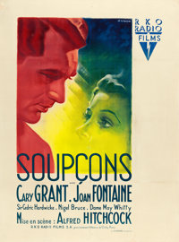 "Suspicion (RKO, 1946). First Post-War Release French Grande (46.5"" X 63"") Bernard Lancy Artwork"