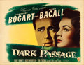 "Movie Posters:Film Noir, Dark Passage (Warner Brothers, 1947). Half Sheet (22"" X 28"") StyleA.. ..."