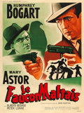 "Movie Posters:Film Noir, The Maltese Falcon (Les Films Regence Algerie, R-1950s). FrenchGrande (46"" X 62"") Jacques Bonneaud Artwork.. ..."