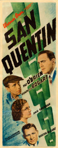 "Movie Posters:Crime, San Quentin (Warner Brothers, 1937). Insert (14"" X 36"").. ..."