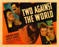 "Movie Posters:Drama, Two Against the World (First National, 1936). Half Sheet (22"" X28"").. ..."