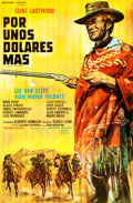 """Movie Posters:Western, For a Few Dollars More (United Artists, 1966). Trimmed Argentinean Poster (27.5"""" X 42"""").. ..."""