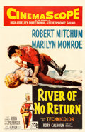"Movie Posters:Western, River of No Return (20th Century Fox, 1954). One Sheet (27"" X 41"").. ..."