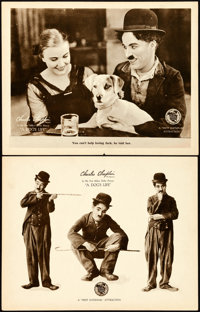 """A Dog's Life (First National, 1918). Lobby Cards (2) (11"""" X 14""""). ... (Total: 2 Items)"""