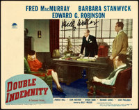 """Double Indemnity (Paramount, 1944). Autographed Lobby Card (11"""" X 14"""")"""