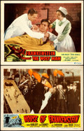 """Movie Posters:Horror, House of Frankenstein/Frankenstein Meets the Wolf Man (Realart,R-1950/R-1949). Lobby Cards (2) (11"""" X 14"""").. ... (Total: 2 Items)"""