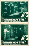 """Movie Posters:Horror, Frankenstein (Universal, R-1947). Lobby Cards (2) (11"""" X 14"""").. ...(Total: 2 Items)"""