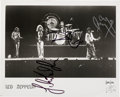 Music Memorabilia:Autographs and Signed Items, Led Zeppelin Photo Signed by Page, Plant, and Jones....