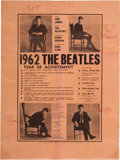 Music Memorabilia:Memorabilia, Beatles Signed Vintage 1962 Year of Achievement PosterReprinted from Mersey Beat (Liverpool, December...