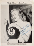 Movie/TV Memorabilia:Autographs and Signed Items, A Marilyn Monroe Early Signed Magazine Page, 1948....