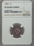 Proof Indian Cents, 1894 1C PR64 Brown Cameo NGC. NGC Census: (0/2). PCGS Population: (0/5)....