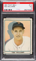 Baseball Cards:Singles (1940-1949), 1941 Play Ball Ted Williams #14 PSA VG 3....