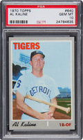 Baseball Cards:Singles (1970-Now), 1970 Topps Al Kaline #640 PSA Gem Mint 10....