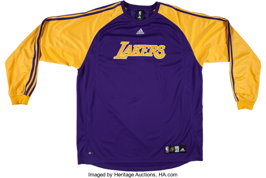 2000 s Kobe Bryant Game Worn Los Angeles Lakers Shooting Shirt ... 07e8b4490
