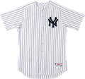 Baseball Collectibles:Uniforms, 2012 Ivan Nova Game Worn, Signed New York Yankees Jersey....