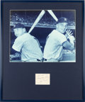 Baseball Collectibles:Photos, 1962 Roger Maris and Mickey Mantle Signed Display....