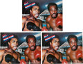 Boxing Collectibles:Autographs, 1976 Muhammad Ali vs. Ken Norton On-Site Programs Signed by Ali(Lot of 3)....
