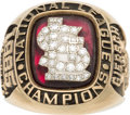 Baseball Collectibles:Others, 1985 St. Louis Cardinals National League Championship Ring....