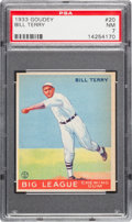 Baseball Cards:Singles (1930-1939), 1933 Goudey Bill Terry #20 PSA NM 7....