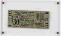 Music Memorabilia:Memorabilia, Beatles Unused Hollywood Bowl Concert Ticket (1965)....