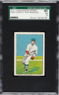 Baseball Cards:Singles (Pre-1930), 1911-14 D304 Brunners Bread Christy Mathewson SGC 40 VG 3. ...