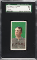 Baseball Cards:Singles (Pre-1930), 1909-11 T206 Sweet Caporal Cy Young (Portrait) SGC 60 EX 5. ...