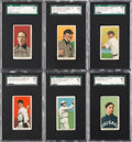 Baseball Cards:Lots, 1909-11 T206 Baseball Hall of Famers SGC 60 EX 5 Collection (6)....