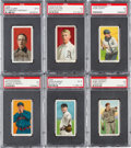 Baseball Cards:Lots, 1909-11 T206 Baseball Hall of Famers PSA EX 5 Collection (6). ...