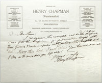Presentation Case and Henry Chapman Letter for a Five Piece Panama-Pacific Set