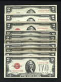 Small Size:Group Lots, Mixed $2 Legals.. ... (Total: 10 notes)