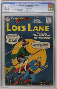 Superman's Girl Friend Lois Lane #1 (DC, 1958) CGC VG- 3.5 Off-white pages