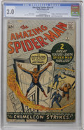 Silver Age (1956-1969):Superhero, The Amazing Spider-Man #1 (Marvel, 1963) CGC GD 2.0 Cream to off-white pages....