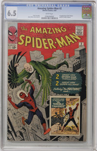 The Amazing Spider-Man #2 (Marvel, 1963) CGC FN+ 6.5 White pages