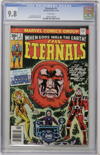 The Eternals #5 (Marvel, 1976) CGC NM/MT 9.8 White pages